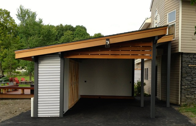 New Carport Minimalistisch Gartenhaus Boston Von Erin