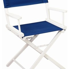 Directors Chair White Hanging Cocoon Ikea 18 In Director S W Frame Navy Blue Canvas Contemporary Folding Chairs And Stools By Shopladder