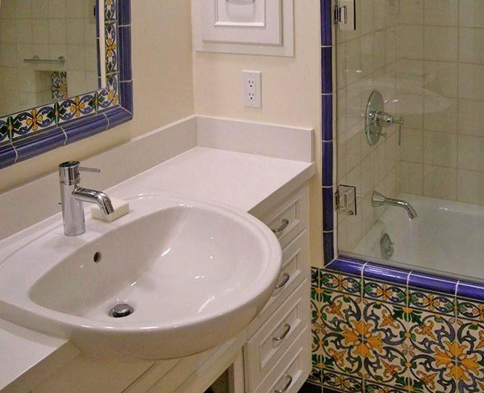 semi recessed bathroom sink unit