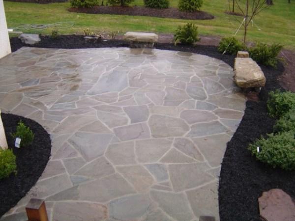custom irregular flagstone patio