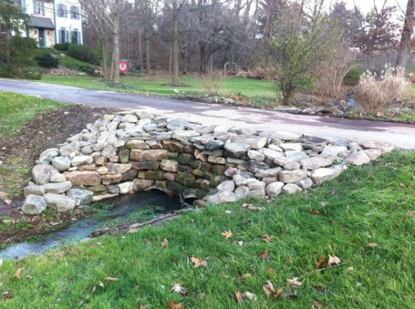 natural stone culvert - traditional