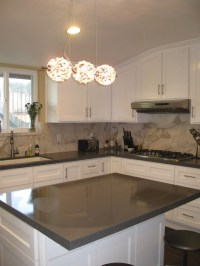 Modernly traditional white kitchen - Contemporary - los ...