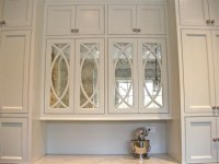 Antiqued Mirror Kitchen Cabinets