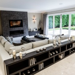 Oversized Sectional Sofas Leather Sofa Sectionals With Recliners Kingswood, Surrey - Contemporary Living Room ...