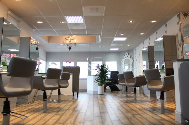 Hair Salon floor and window coverings  Contemporary  Los Angeles  by Fibers  Floors