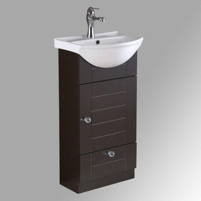 bathroom vanity cabinet sink with faucet and drain combo