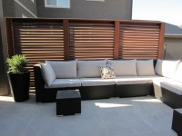 Slatted Privacy Screen Panels - Traditional - Patio ...