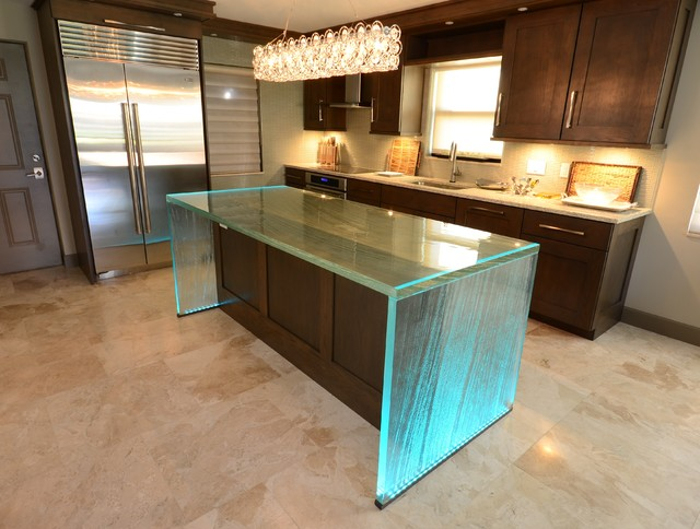 Glass Island Contemporary Kitchen Tampa By Downing