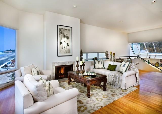Clean Modern Beach House Design - Contemporary - Living ...