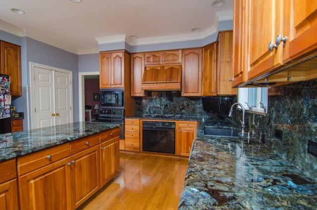 Lemurian Blue Labradorite Kitchen with Full Backsplash