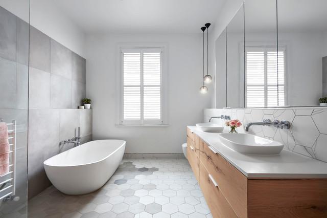 Moonee Ponds Home - Main Bathroom contemporary-bathroom