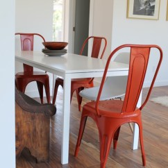Ikea Casual Chairs Beach Chair Frame Tolix And Eames Molded Plastic With White Table - Modern Dining Room Los ...