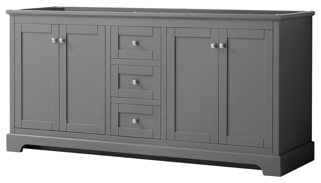 Avery 72 Double Vanity No Countertop No Sinks No Mirror Transitional Bathroom Vanities And Sink Consoles By Wyndham Collection