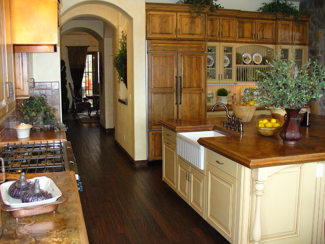 country kitchen with whimsy
