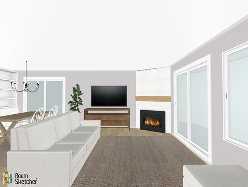 back of sofa facing fireplace parker microfiber reviews living room layout - corner fireplace/sliding doors/open ...