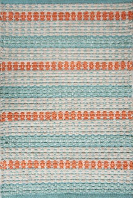 dark teal dining room chairs fabric side siesta key beach jute braided light blue, orange, white rug - farmhouse area rugs by ...