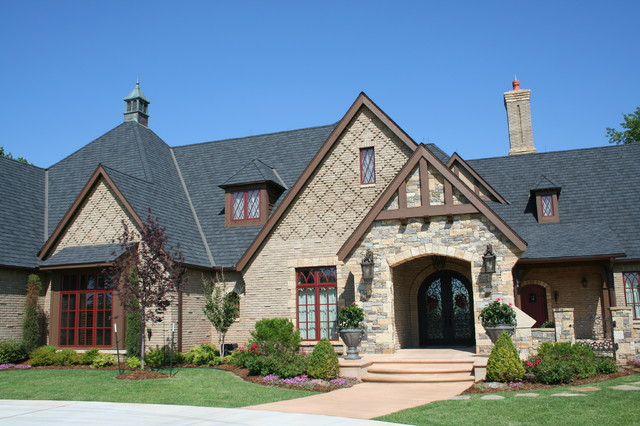 English Tudor Traditional Exterior Oklahoma City By Brent