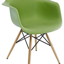 Modern Plastic Chair Cosco Folding High Daw Green Mid Century Dining Armchair W Wood Eiffel Legs Midcentury Chairs By Emodern Decor