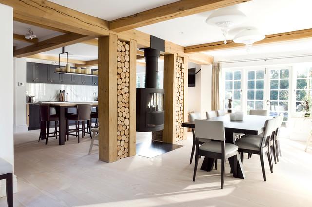 Classic Swedish Shaker in dark moody tones scandinavian-kitchen