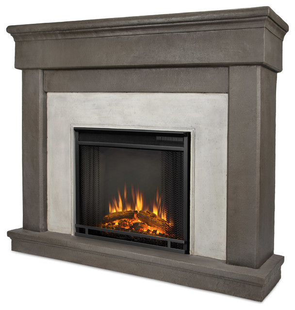 Cascade Dune Stone Electric Firebox  Mantel  Modern  Indoor Fireplaces  by Shop Chimney