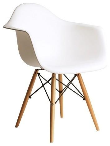 modern plastic chair fishing with umbrella holder daw dining armchair wood eiffel legs midcentury white mid century