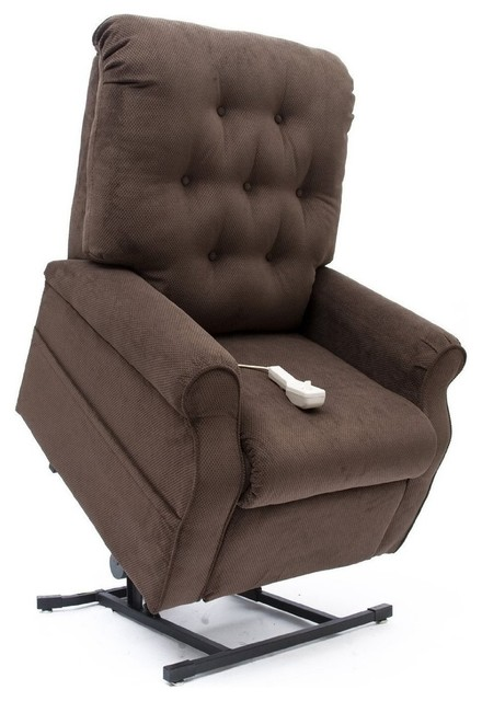 mega motion lift chairs chair cover hire scotland lc 200 easy comfort 3 position chocolate transitional by furniture east inc