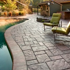 Swivel Patio Chairs Sale Revolving Chair With Price Techo Bloc Blu 60 Paver Pool Patio. The Color Is Autumn Red And Has Been Sealed - Traditional ...
