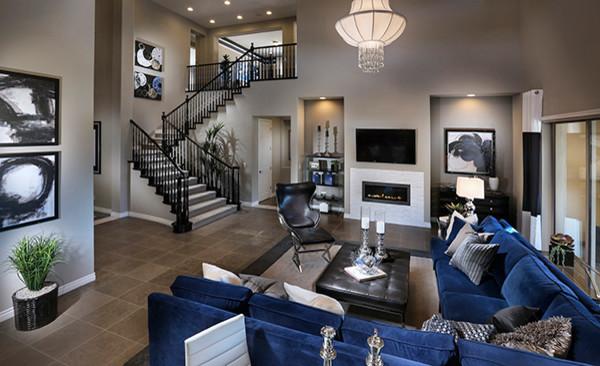 The Masters Plan 4615 Las Vegas Contemporary Living Room Las