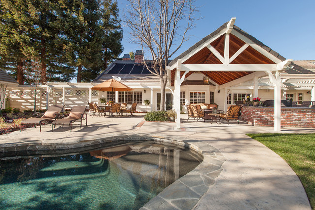 Ca Ranch Style Home Transformation Traditional Pool Los