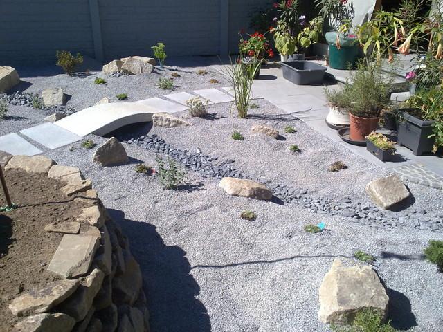 gartengestaltungsideen moderner steingarten steingarten bilder,