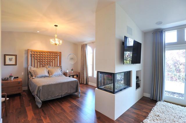 rugs for hardwood floors in kitchen tile murals restful retreat and master bath - modern bedroom los ...