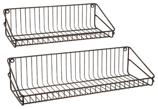 Unique Style Black Set of 2 Ludovic Wall Shelf Family Room
