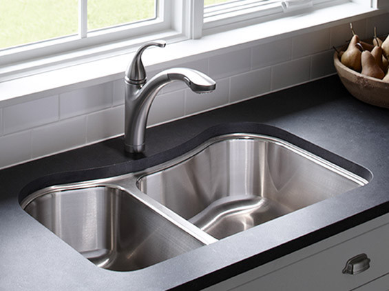 sinks kitchen shallow sink how to choose the right contemporary kohler staccato new products
