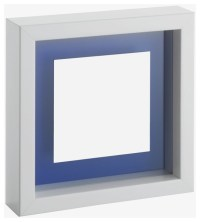 Monro 10 x 10cm/ 4 x 4in. white floating photo frame ...