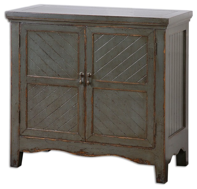 Uttermost Matayas Gray Console Cabinet  Transitional