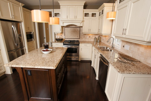 cream kitchen cabinet ideas wallpaper giallo fiesta granite countertop design