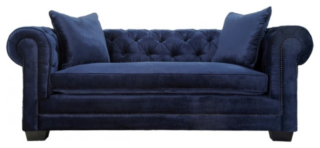 gray linen chesterfield sofa flip open nickelodeon s paw patrol norwalk velvet tufted sofa, navy ...