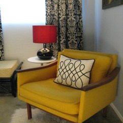 Oversized Living Room Chair Zero Gravity Lift Yellow Mid Century Modern - Eclectic Bedroom Los Angeles By Madison Home