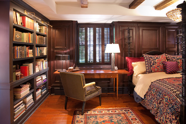 library bedroom | houzz