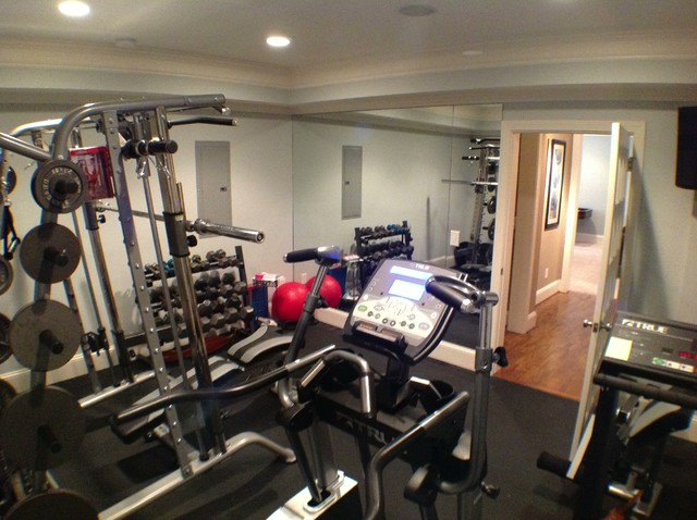 Kennesaw Basement  Traditional  Home Gym  Atlanta  by