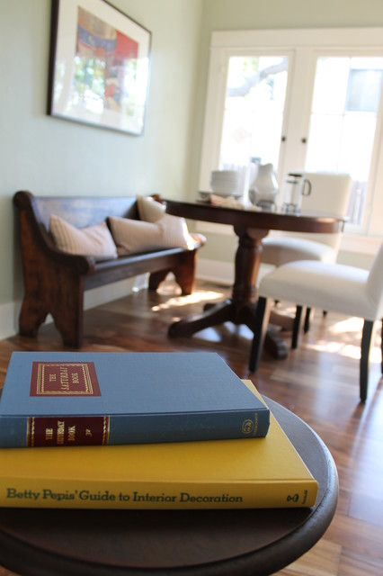 Breakfast Nook Banquette With Vintage Deacon's Bench Church Pew