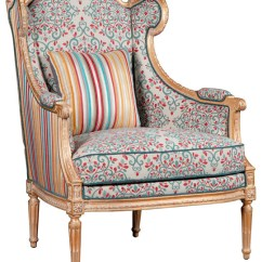 Floral Upholstered Chair Rocking Runners Jana French Global Bazaar Walnut Wood Arm Eclectic Armchairs And Accent Chairs By Kathy Kuo Home