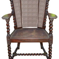 Antique Cane Chairs Tempur Pedic Office Chair Tp8000 Reviews Consigned Victorian Jacobean Barley Twist Armchairs And Accent By Abby Essie Llc