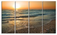 """Gloomy Atlantic Beach Portugal"" Metal Wall Art - Beach ..."