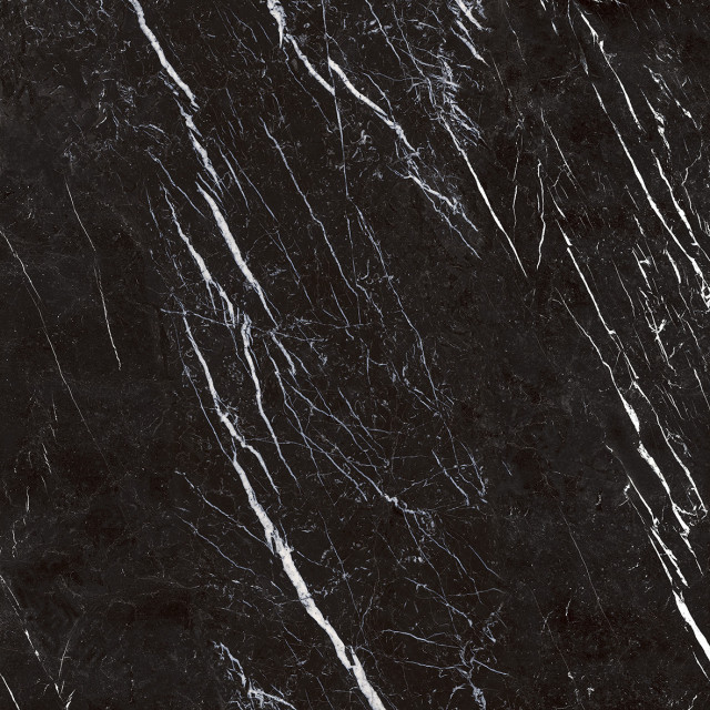 marquina black marble look rectified porcelain tile premium polished 36 x36