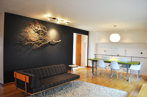 Feature Walls Colour Ideas bedroom ideas with hardwood chandelier