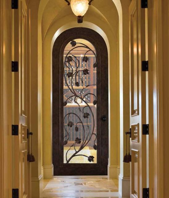 Forged Iron Doors  Mediterranean  Wine Cellar  Tampa
