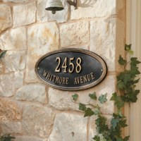 Beaded Oval Outdoor Signs - Traditional - Outdoor Wall Art ...