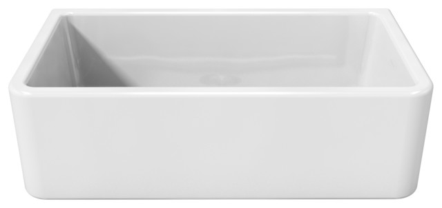 kitchen sink white hansgrohe talis s faucet latoscana reversible fireclay farmhouse apron single bowl