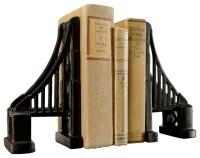 Set of Cast Iron Bridge Bookends - Contemporary - Bookends ...